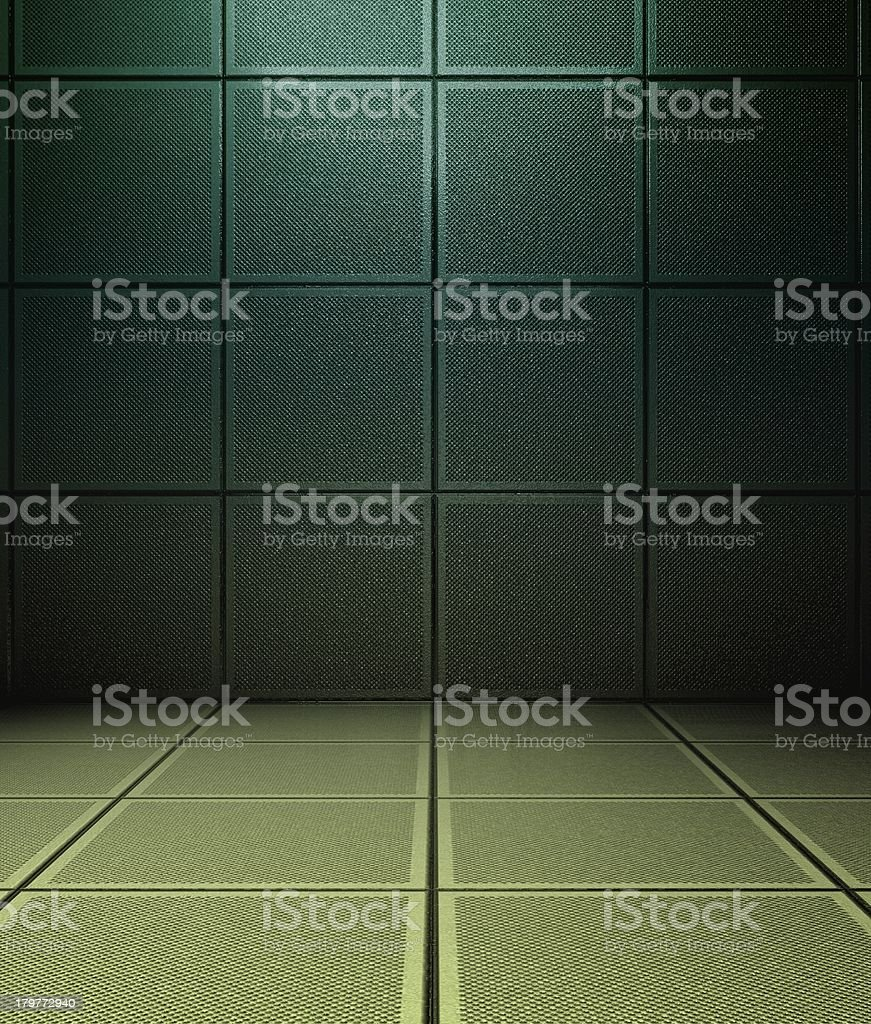 3d concrete or metal tiles royalty-free stock photo