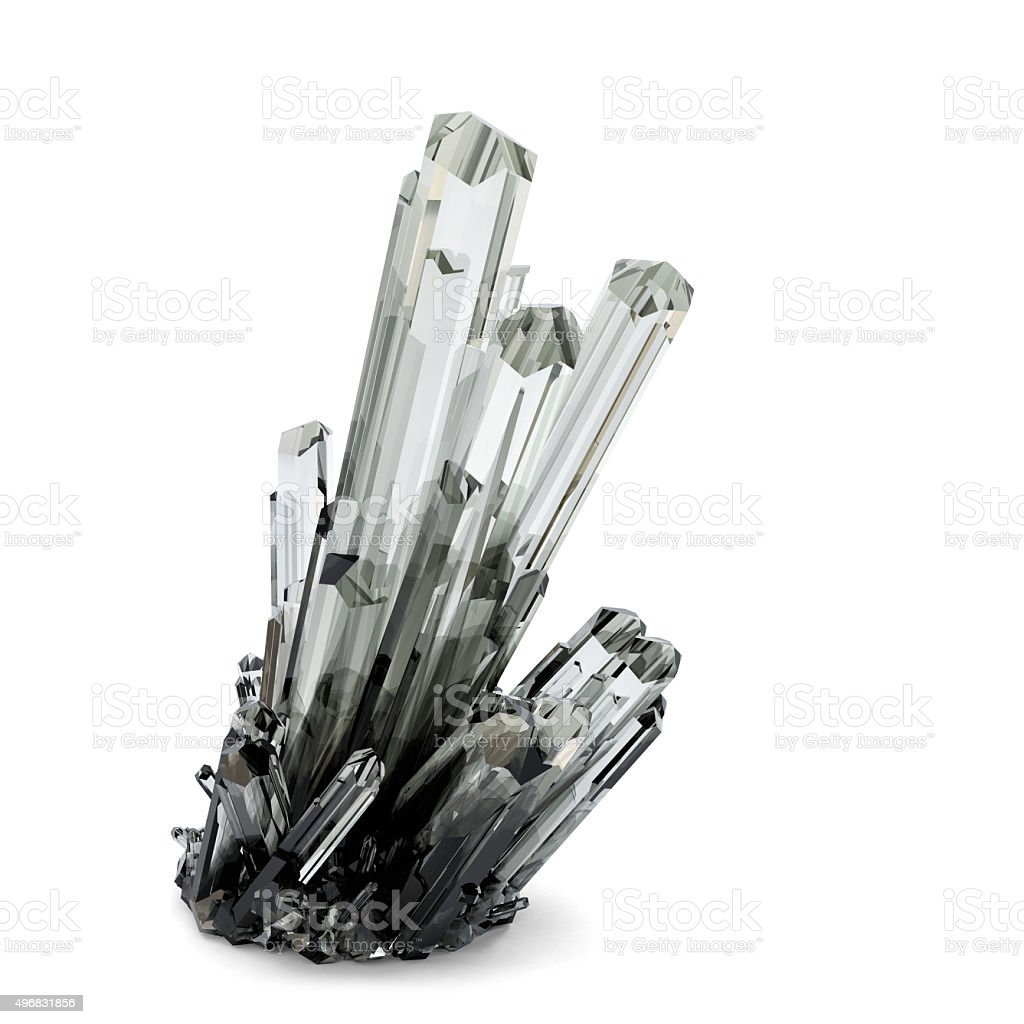 3d Crystal illustration. Isolated. Contains clipping path stock photo