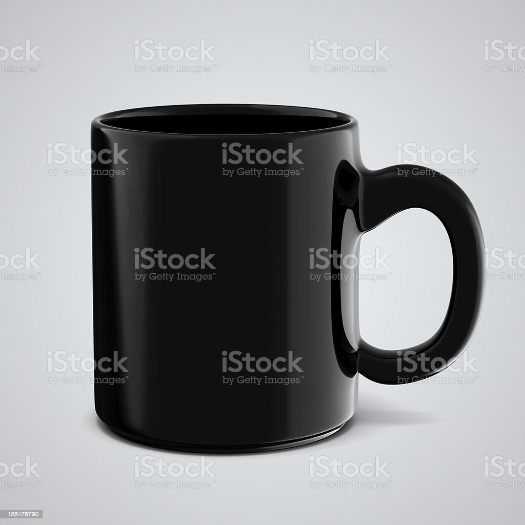 3d cup on white background royalty-free stock photo