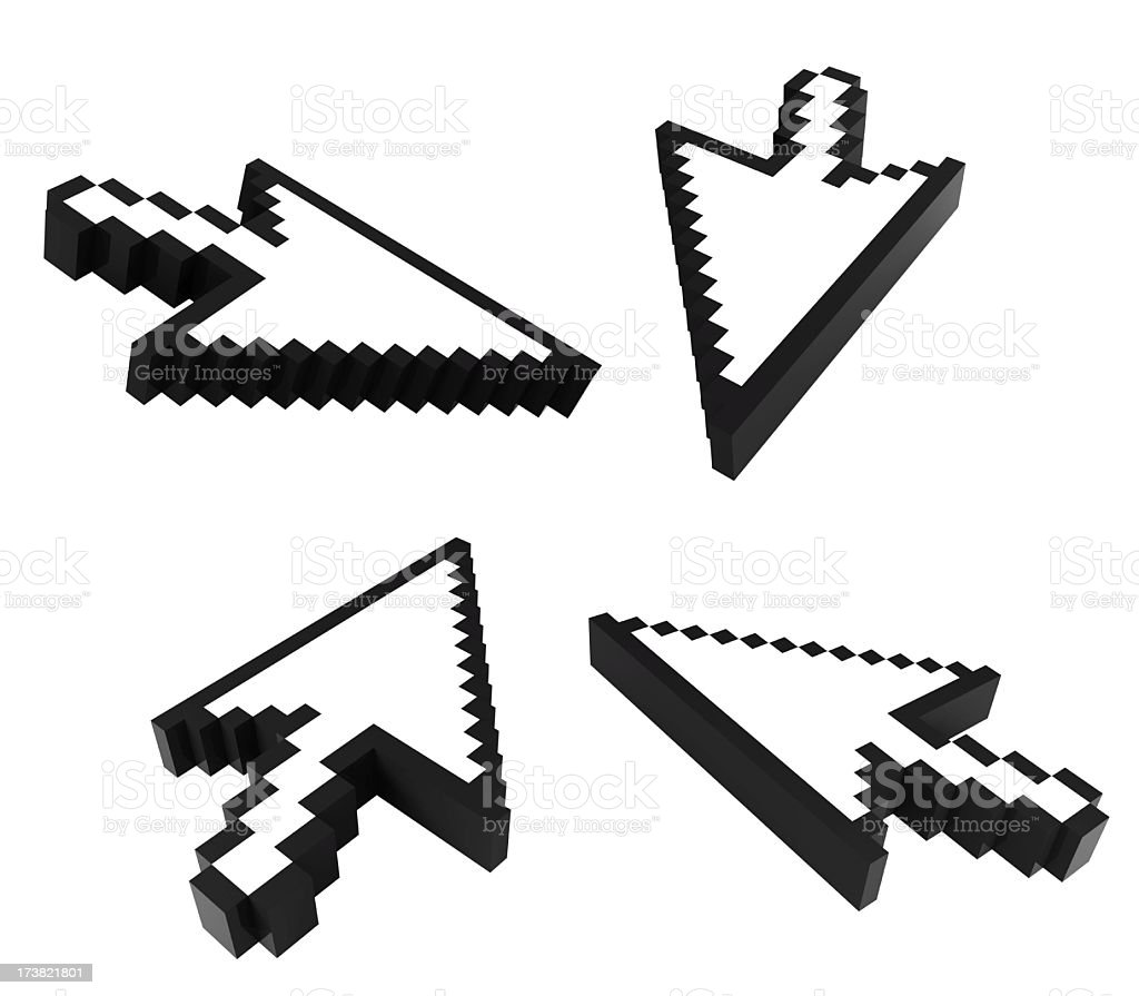 3d cursors stock photo