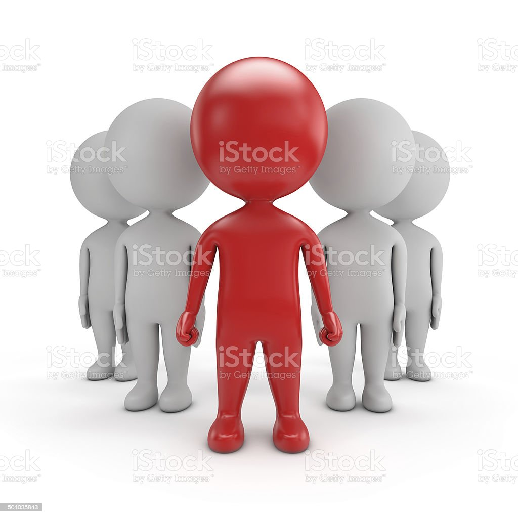 3d cute people - team leader stock photo