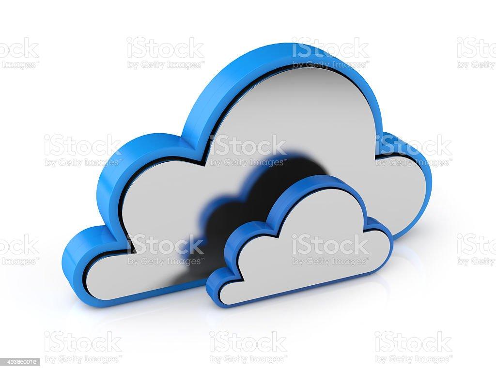 3d data cloud stock photo