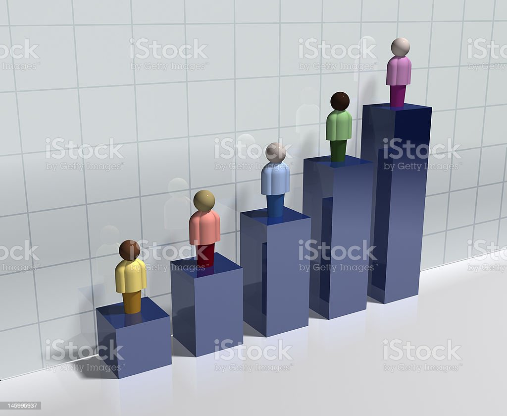 3d Demographic Bar Chart stock photo
