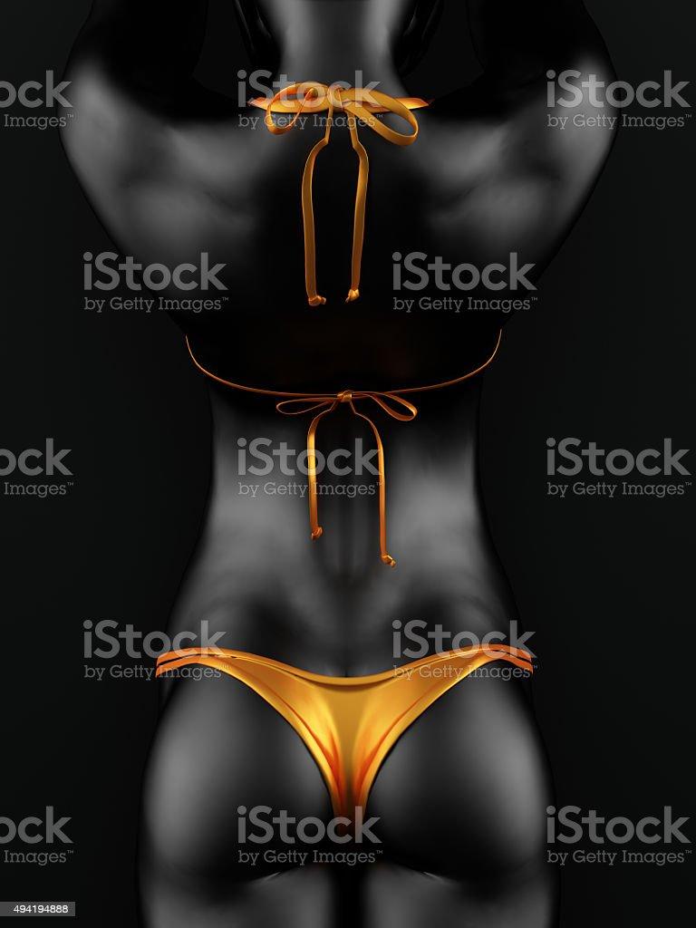 3d design rendered bikini woman stock photo
