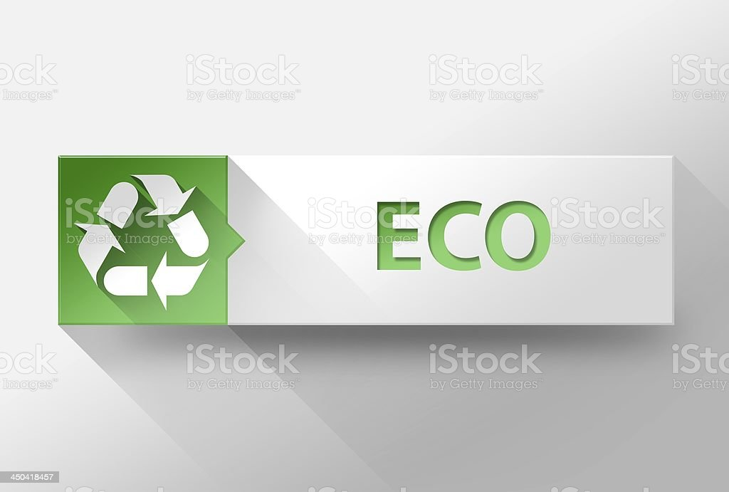 3d ECO flat design, illustration royalty-free stock photo