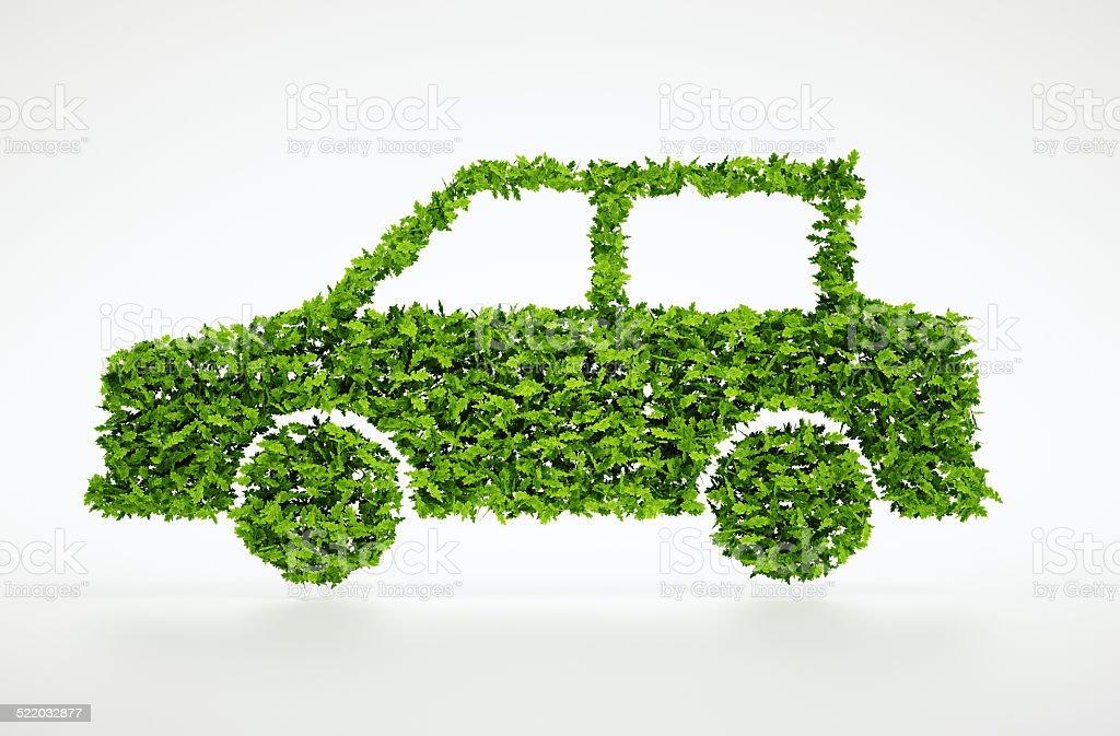 3d ecology car symbol stock photo