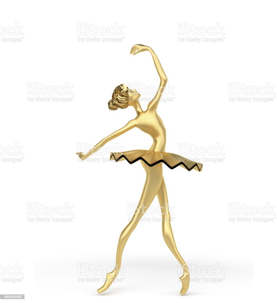 3d Elegant Ballerina 2 stock photo