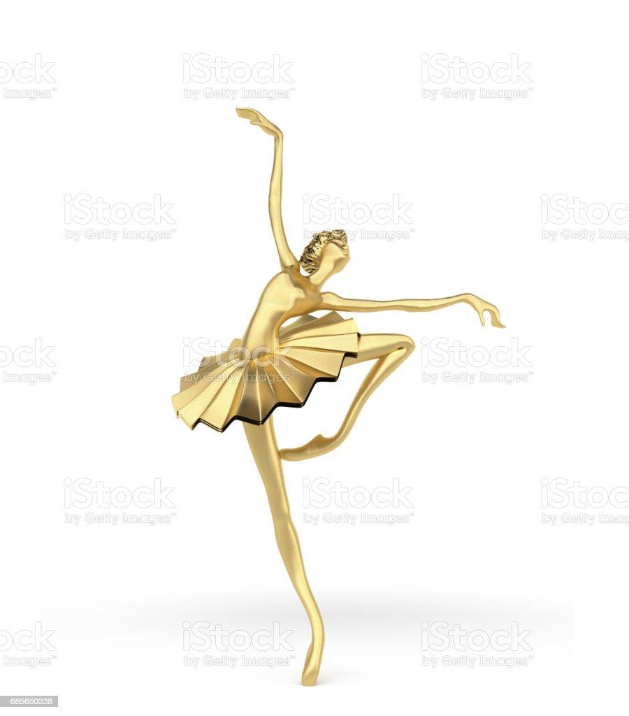 3d Elegant Ballerina 3 stock photo