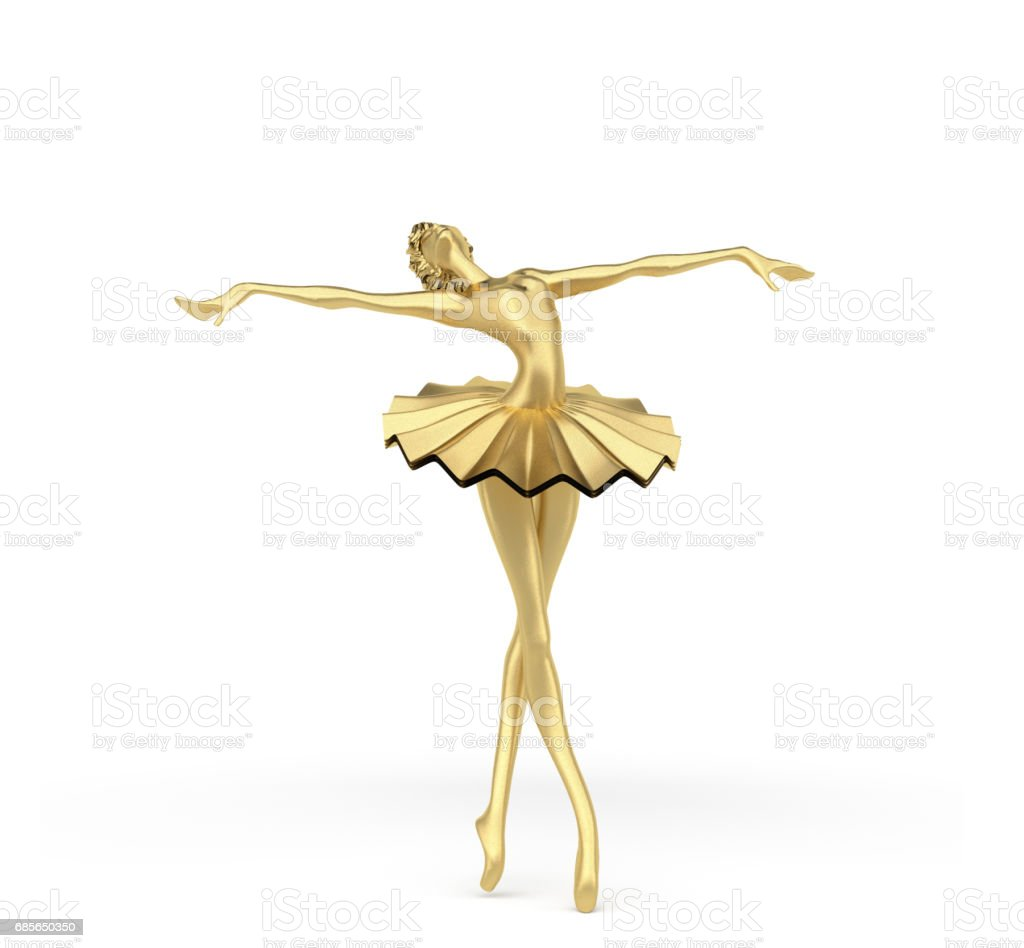3d Elegant Ballerina 5 stock photo