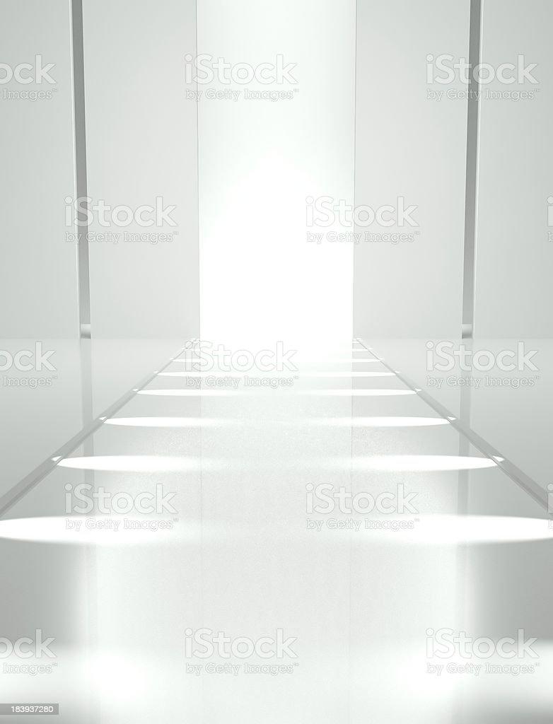3d Empty fashion runway stock photo