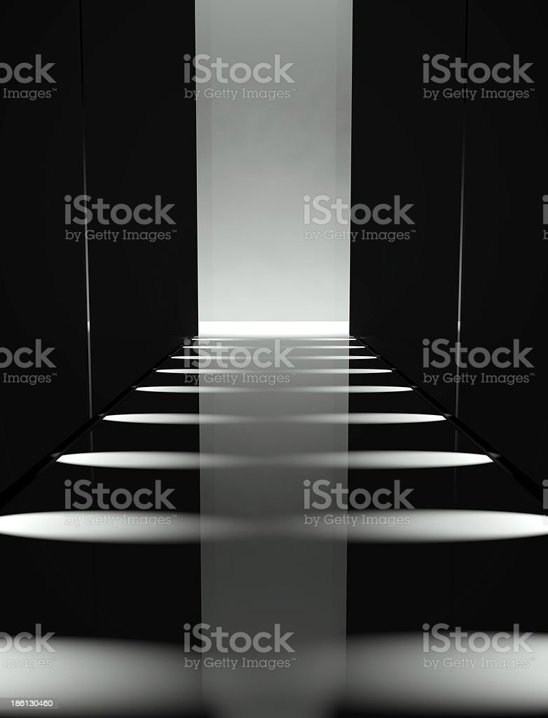 3d Empty fashion runway stock photo