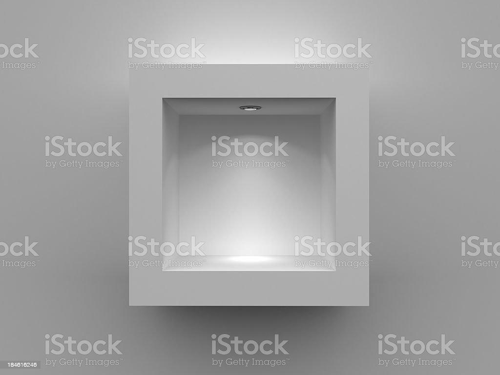 3d Empty shelf royalty-free stock photo