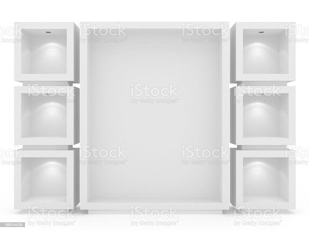 3d Empty vitrine royalty-free stock photo