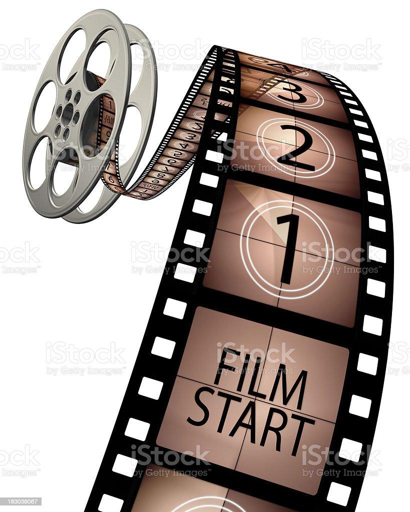 3d film leader countdown stock photo