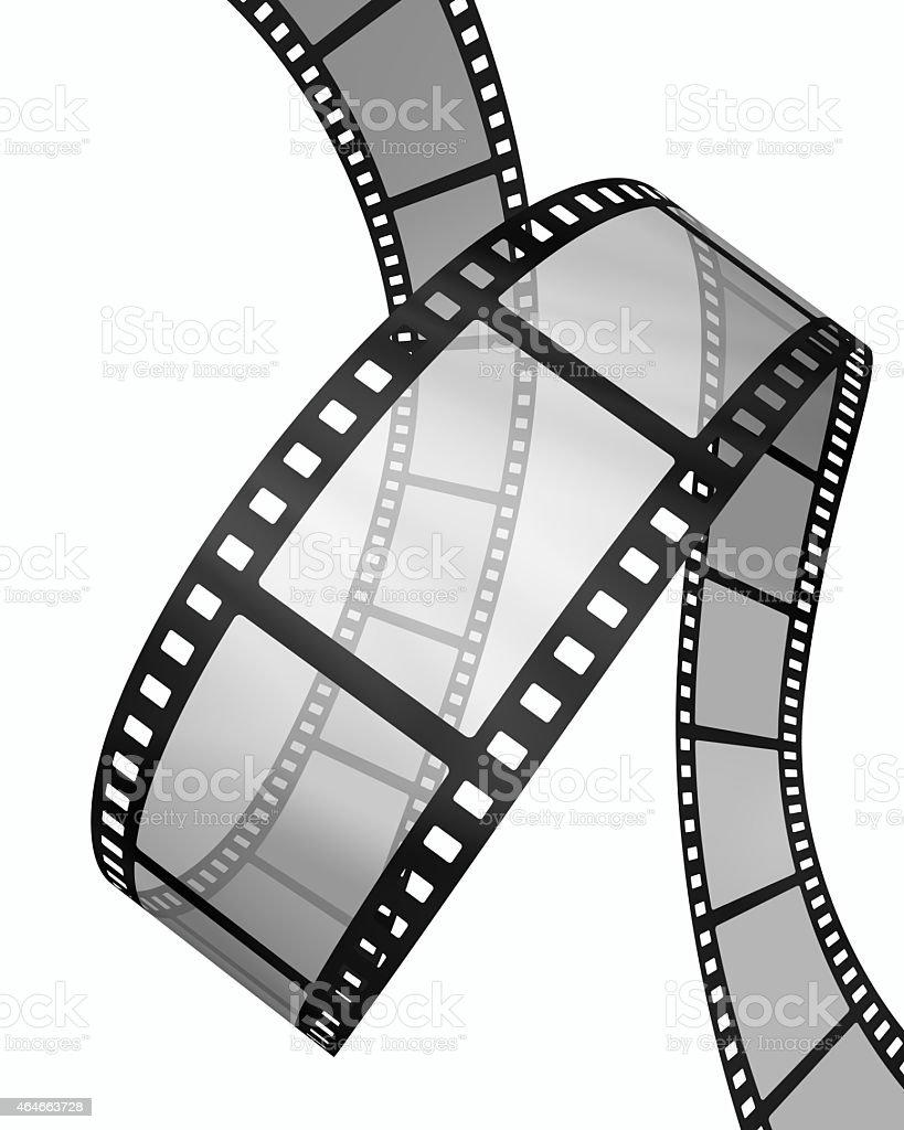 3d Filmstrip vertical loop stock photo