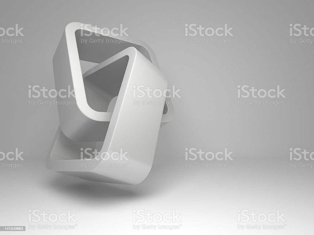 3d flying rectangles background royalty-free stock photo