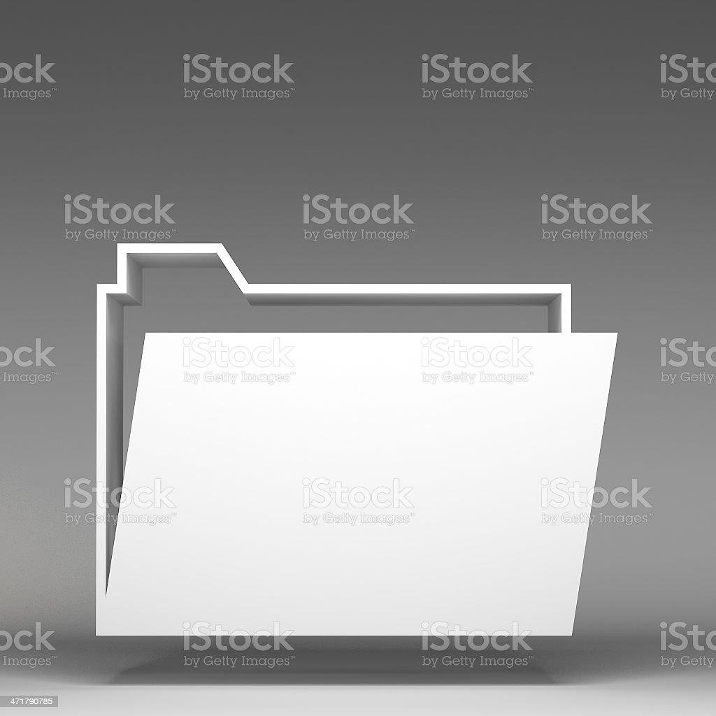 3d folder icon royalty-free stock photo