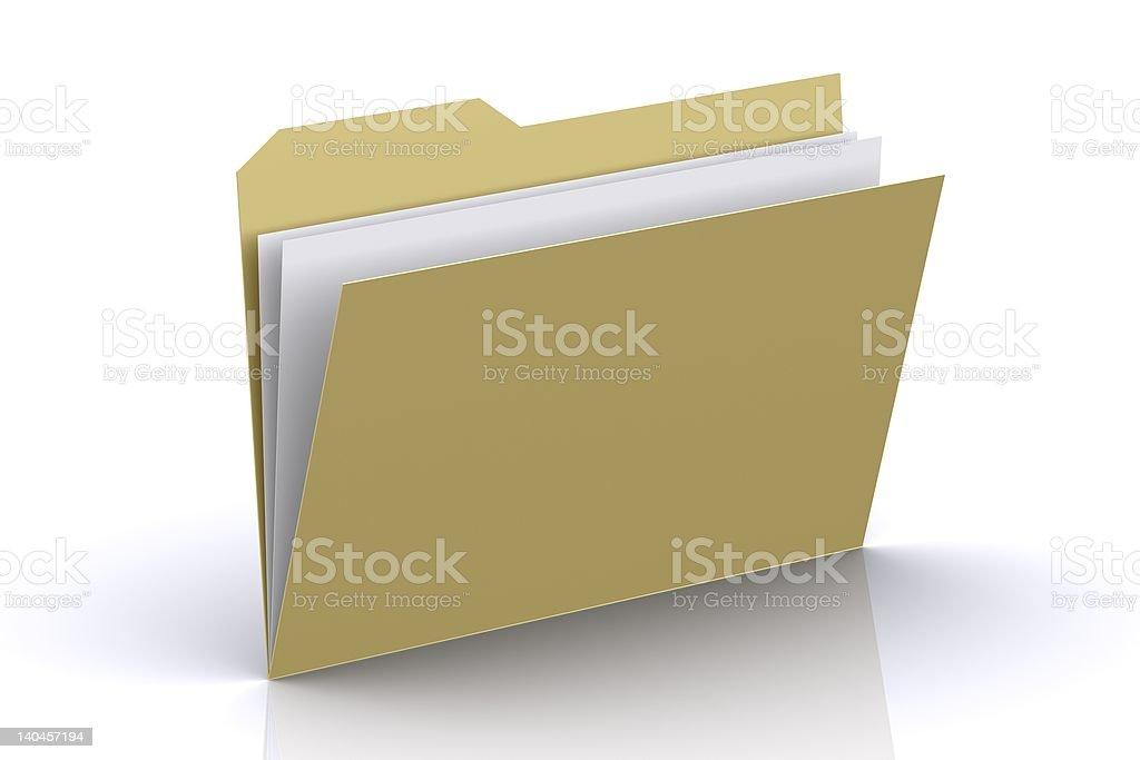 3d Folder royalty-free stock photo