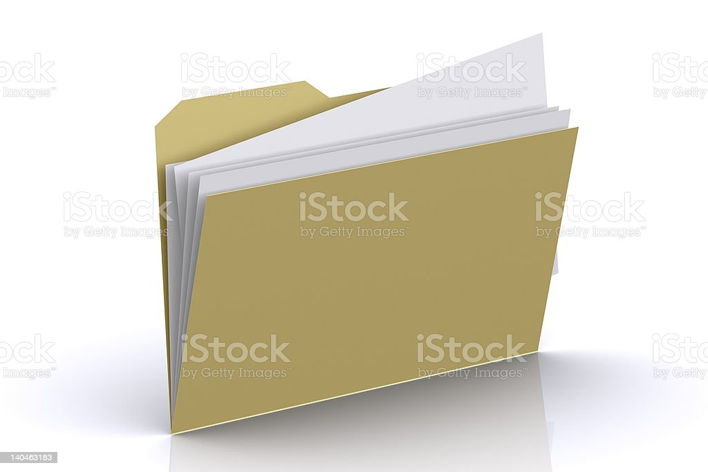 3d Folder with paper out (More icons on my portfolio). royalty-free stock photo