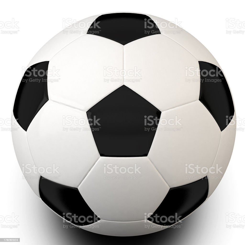 3d Football With Clipping paths royalty-free stock photo