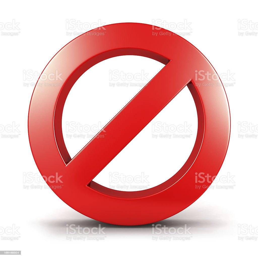 3d forbidden sign stock photo