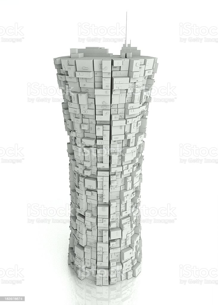 3d futuristic modern building royalty-free stock photo