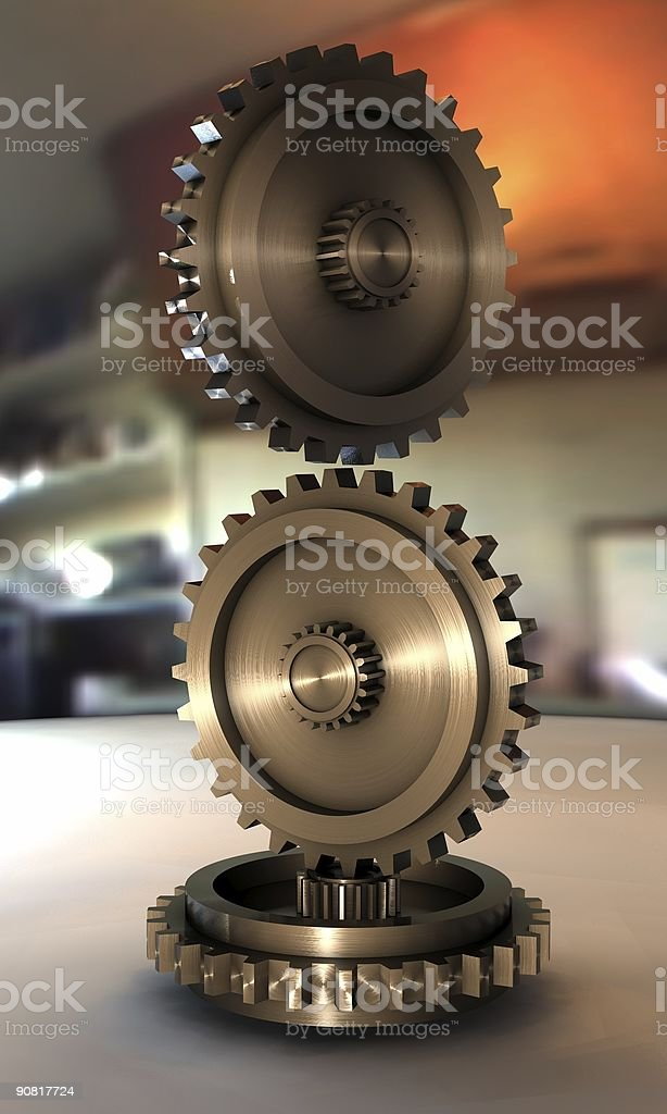 3d Gears royalty-free stock photo
