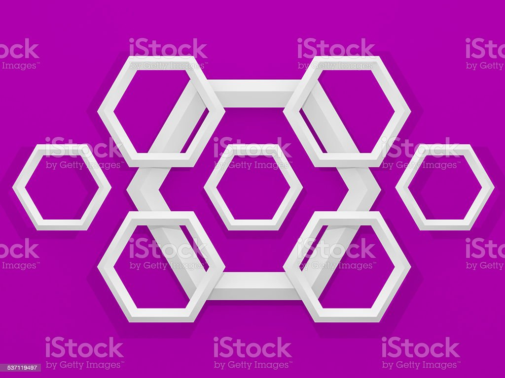 3d geometric background with hexagons stock photo