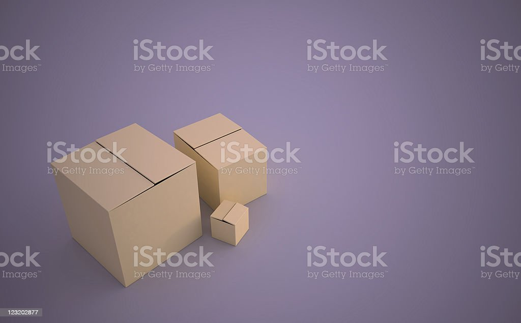 3d gift boxes royalty-free stock photo