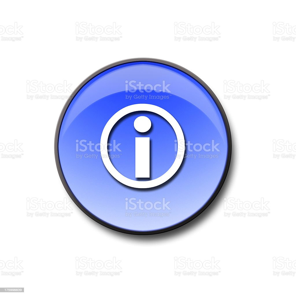 3d Glass Information Button royalty-free stock photo