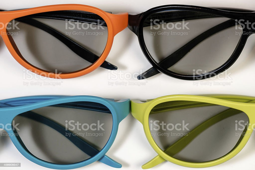 3d glasses different colors royalty-free stock photo