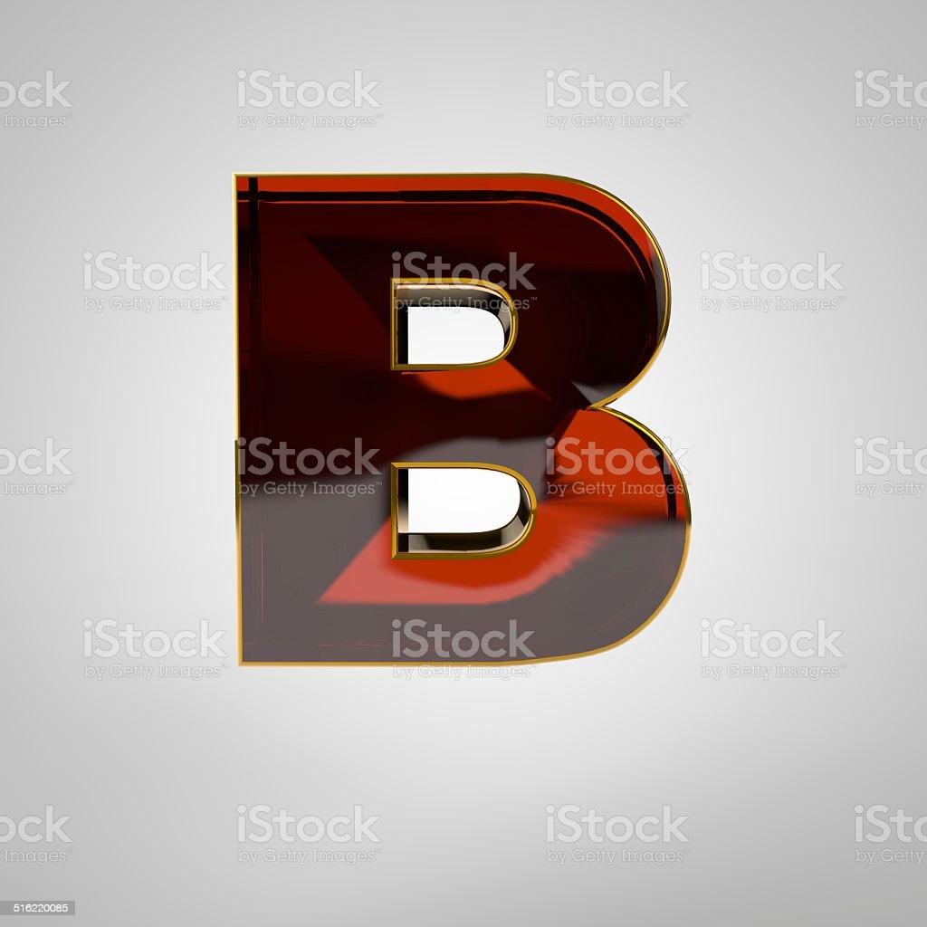 3d golden letter - b stock photo