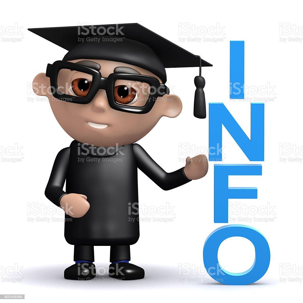 3d Graduate has info stock photo