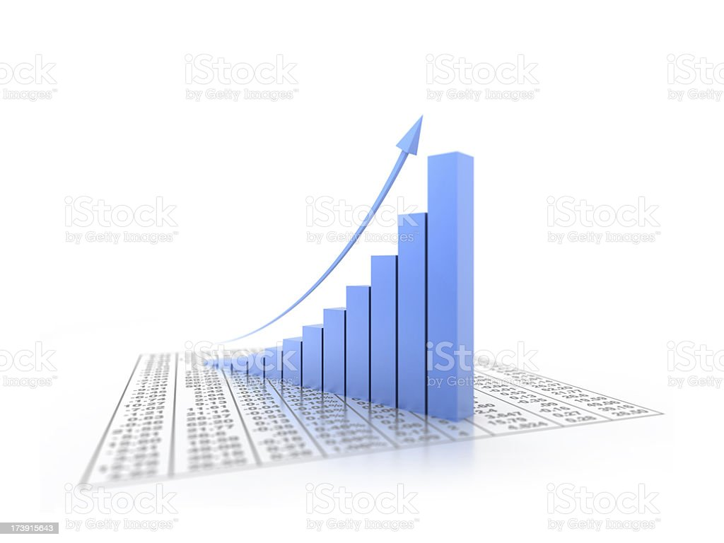 3d graph royalty-free stock photo