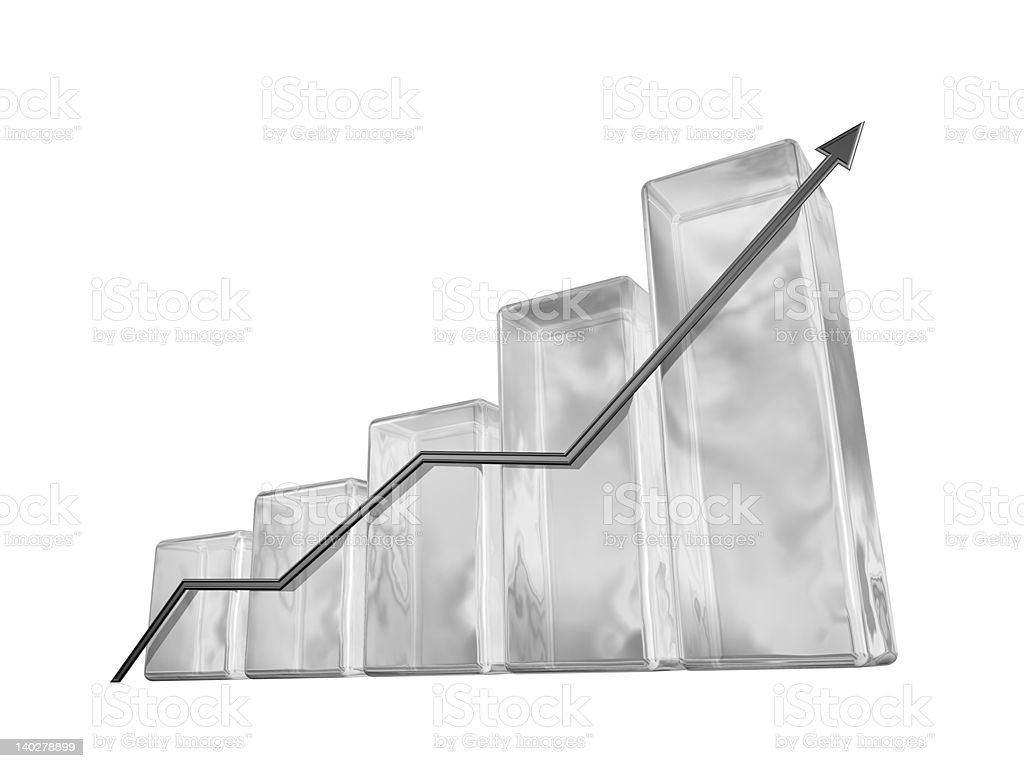 3d graphic chart royalty-free stock photo