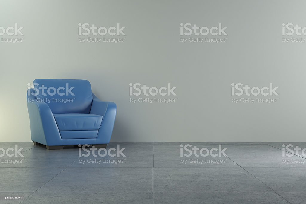 3d gray interior render royalty-free stock photo