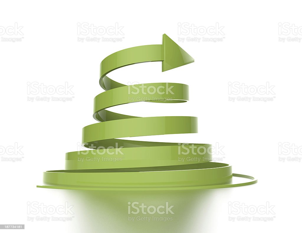 3d green arrow stock photo