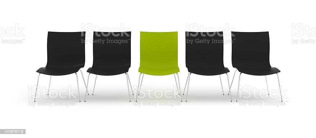 3d green chair stock photo
