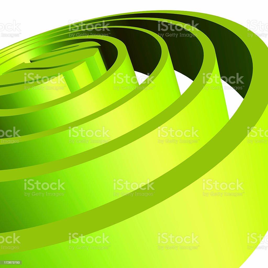 3d Green Circles royalty-free stock photo