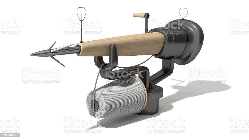 3d harpoon cannon design stock photo