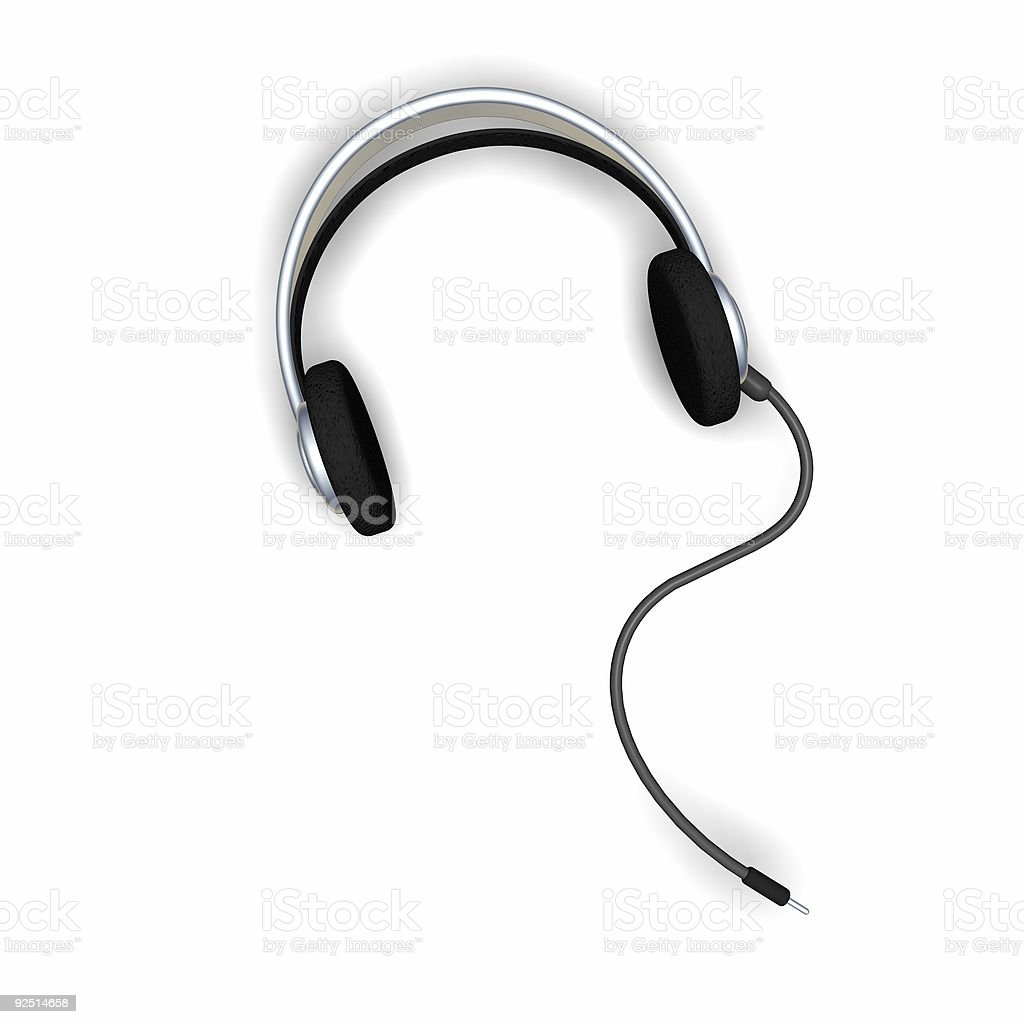 3d Headphones stock photo