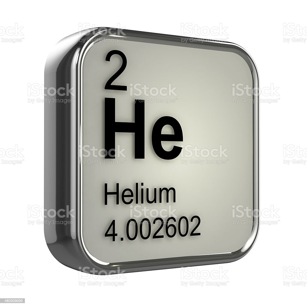 3d Helium element stock photo