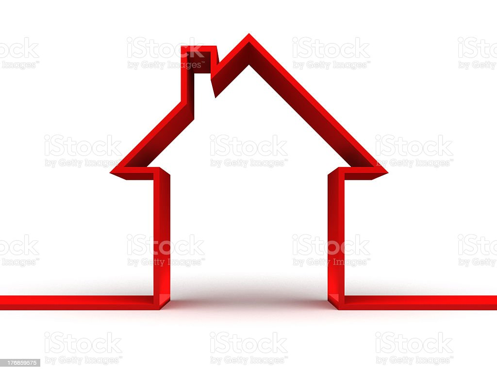 3d house stock photo