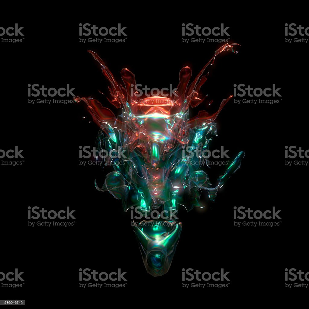 3d iilustration of visual effect stock photo
