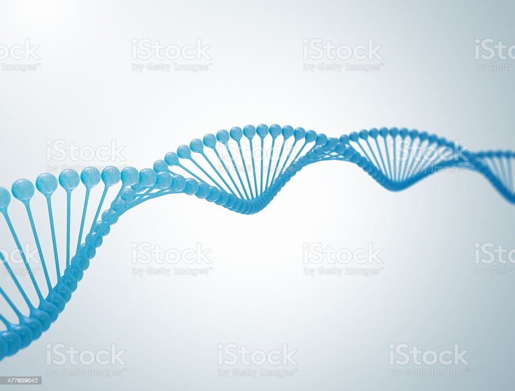 DNA 3d illstration stock photo
