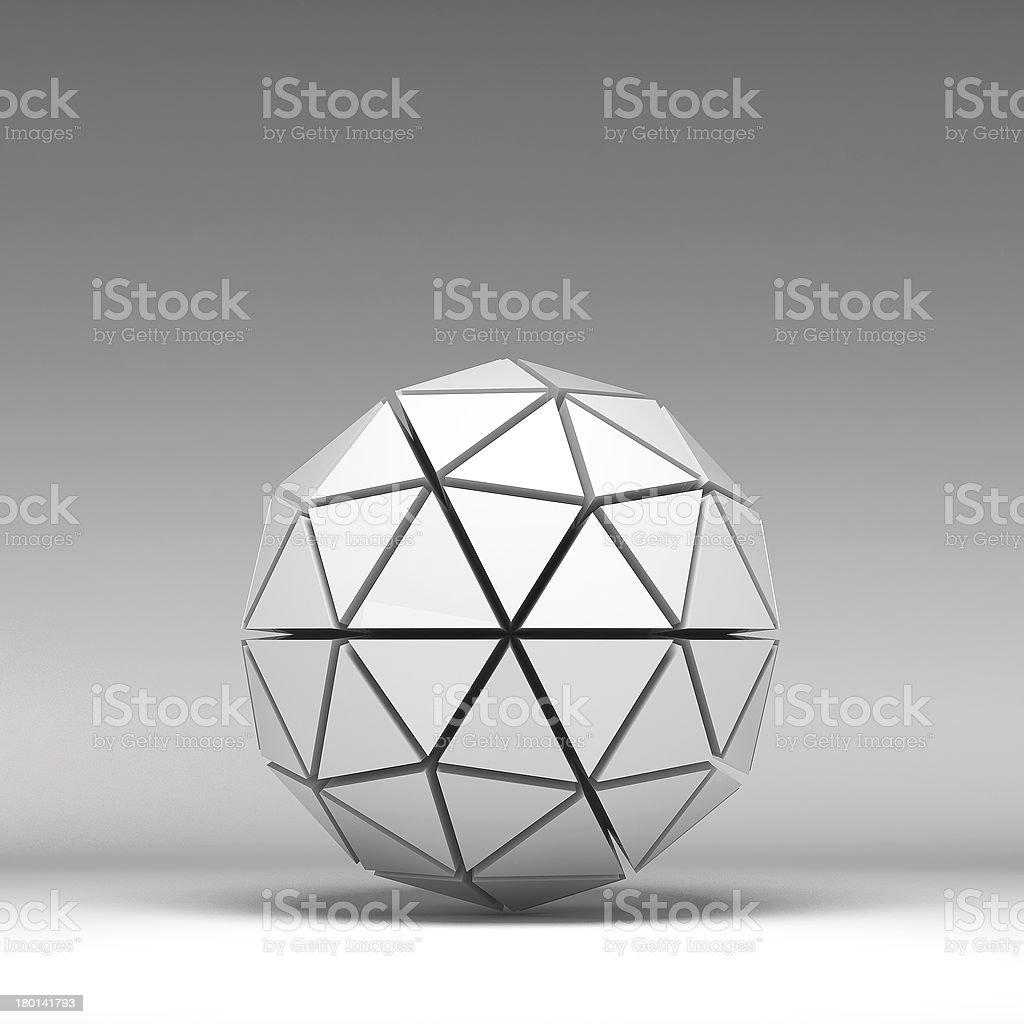 3d illustration basic geometric shapes royalty-free stock photo