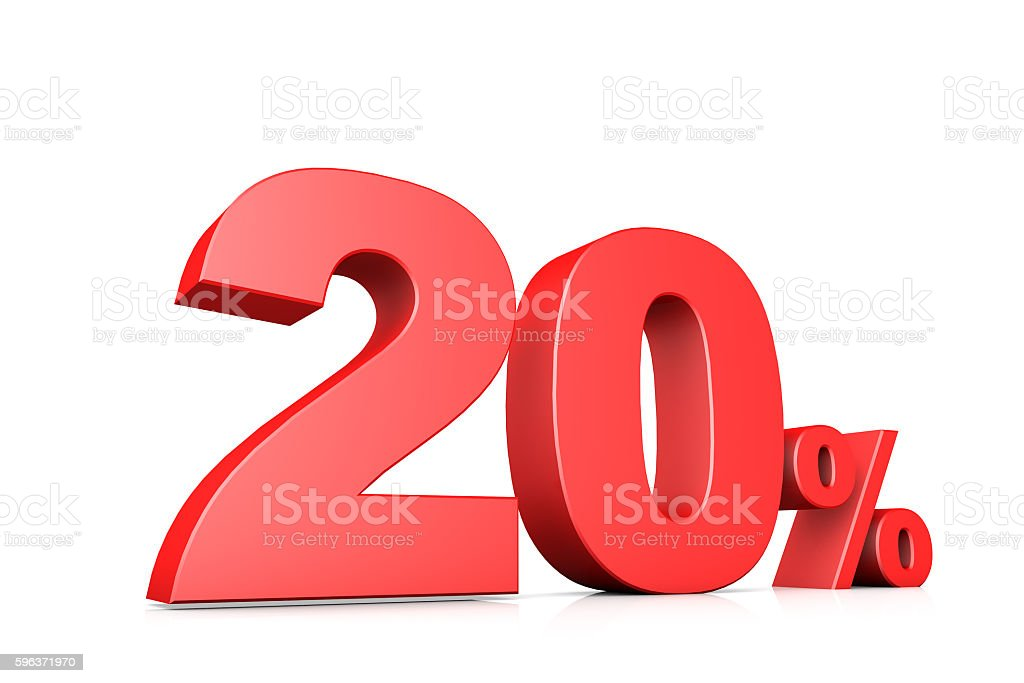 3d illustration business number 20 percent stock photo