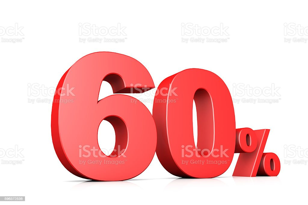3d illustration business number 60 percent stock photo