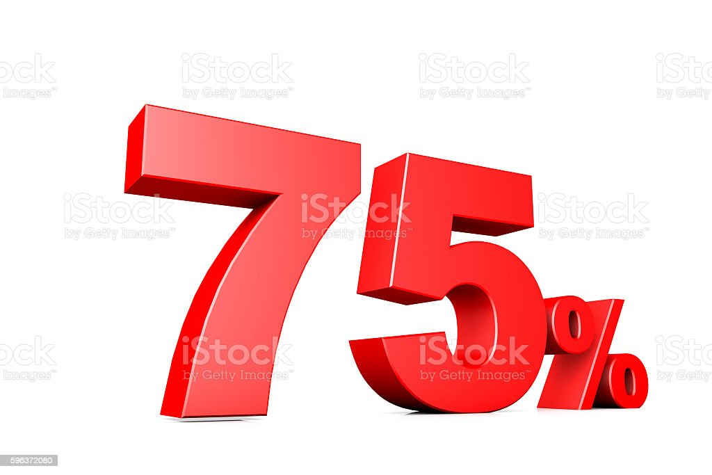 3d illustration business number 75 percent stock photo