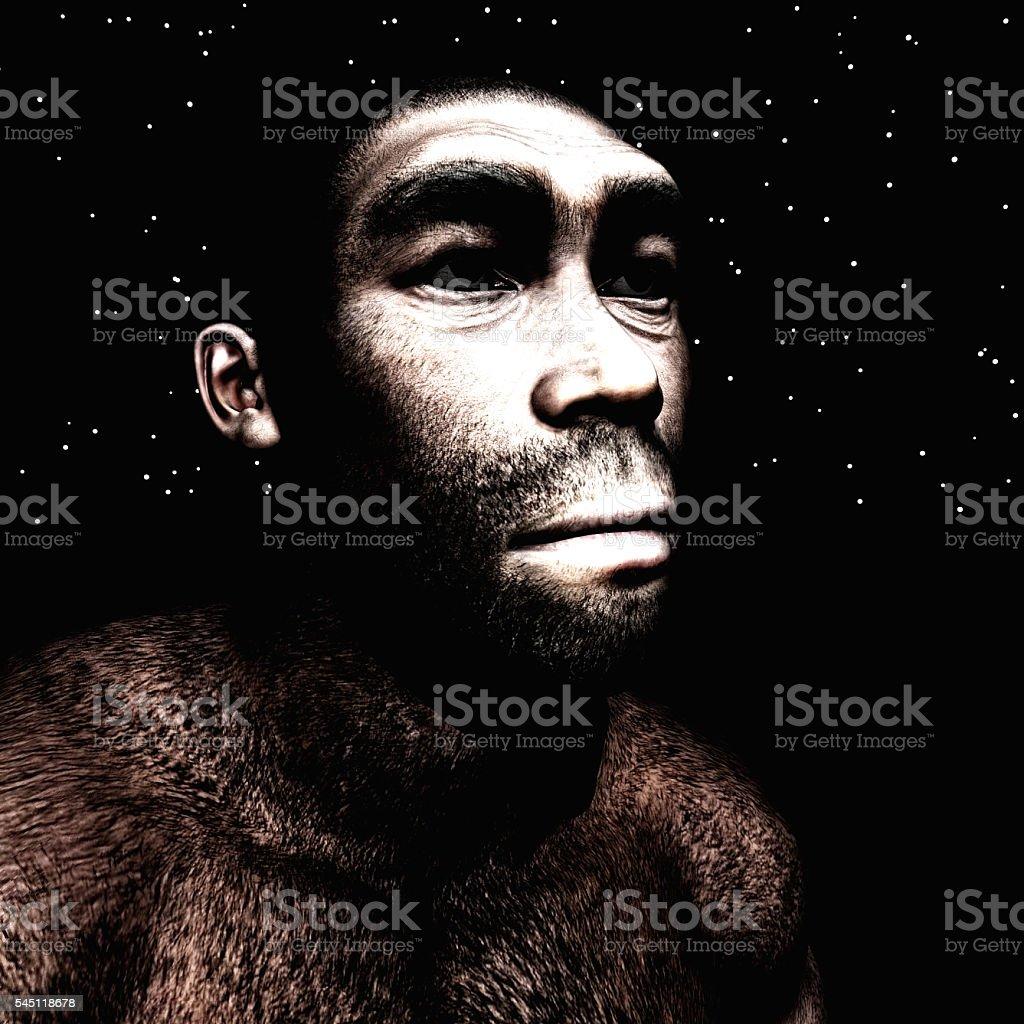 3d Illustration of a Homo Erectus stock photo